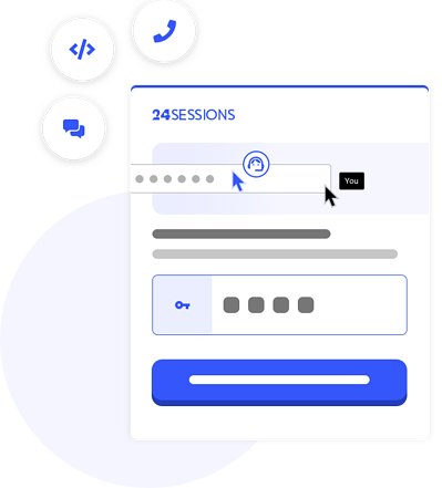 Illustration of how to start a co-browsing session with customers