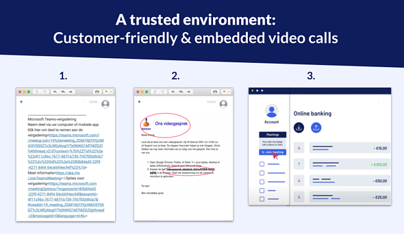 Trusted environment for video calls with customers